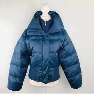 Esprit Blue 2 in 1 Down Puffer Jacket & Vest Sz M